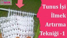 Tunus İşi İlmek Artırma Tekniği 1