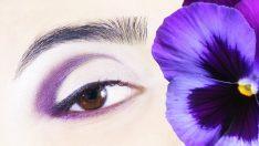 Çekici Mor Göz Makyajı