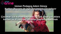 Çocuklar için kurban bayramı; 0 7 yaş arası çocuklara kurban ve et vurgusu olmadan bayram yaşatılmal