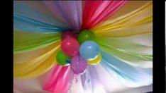 Doğum günü kutlamaları için duvar ve tavan süsleme fikirleri