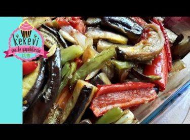 Fırında Biberli Patlıcan Yemeği (Vejeteryan)