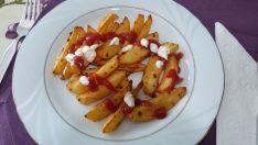 Fırında Patates Kızartması Tarifi   Soslu Patates Kızartması   Elma Dilimli Patates Kızartması