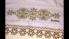 Havlu Kenarı Yuvarlak Çiçek Modeli