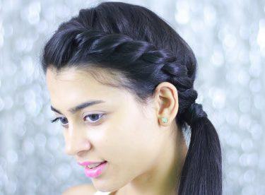 İp/Burgulu Saç Örgüsü İle Kolay Toplu Saç Modeli