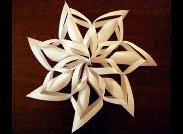 Kağıt ile Kar Tanesi Yapımı