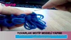 Kasnak İşi Yuvarlak Motif Modeli Yapımı