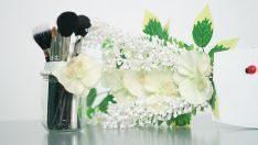 Makyaj Fırçaları İçin Kozmetik Organizer Yapımı -2