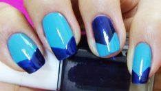 Mavi Lacivert Manikür Çeşidi – Nail Arts