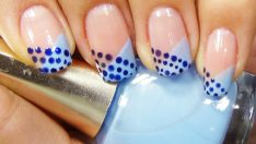 Mavi Lacivert Oje Deseni – Nail Arts