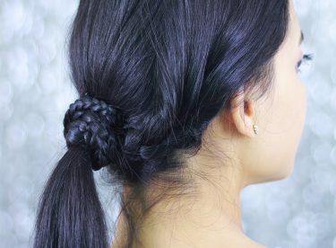 Örgü İle Kolay Saç Modelleri – Günlük Kolay Saç Modelleri