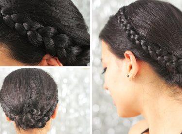 Örgü İle Taç Şeklinde Saç Modeli