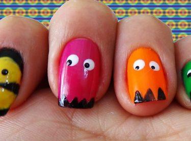 Pac-Man Oje Deseni – Nail Arts