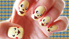 Pikachu Oje Deseni – Nail Arts