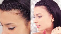 Saç Örgüsü İle Taç Modeli