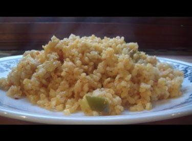Sebzeli Bulgur Pilavı / Domatesli Biberli