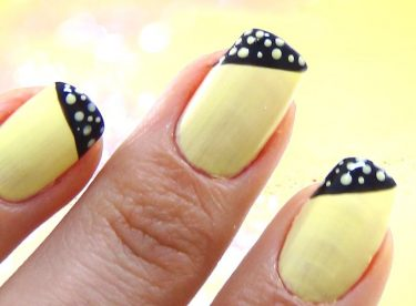 Siyah Sarı Oje Deseni – Nail Arts