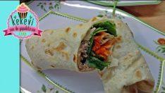 Ton Balıklı Salata ve Dürüm (Ev yapımı dürüm ekmeği ile)