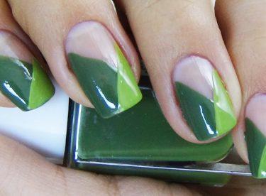 Yeşil Oje Deseni – Nail Arts