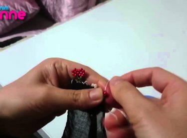 İğne Oyası Boncukile Çiçek Yapımı