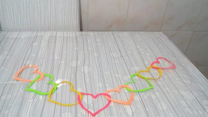 Kağıttan Kalpli Süs Yapımı