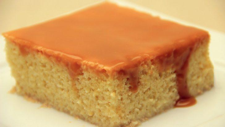 Trileçe Tatlısı Tarifi – Karamelli Sütlü Islak Kek Tarifi