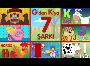 ABC Alfabe Şarkıları (G-Ğ-H-I-İ-J-K) – Sevimli Dostlar Eğitici Çizgi Film Çocuk Şarkıları