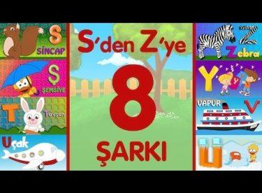 ABC Alfabe Şarkıları (S-Ş-T-U-Ü-V-Y-Z) – Sevimli Dostlar Eğitici Çizgi Film Çocuk Şarkıları
