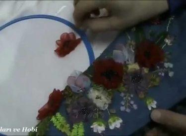 Gelincik Çiçeği Yapımı – Kurdele Nakışı