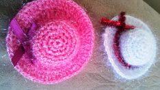 Minik Şapka Yapımı Dolap Süsü