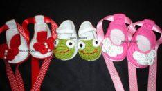Örgü Çocuk Ayakkabısı Modelleri