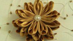 Saten Kurdeleden Çiçek Yapılışı