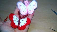Üç Boyutlu Kelebek Yapımı Magnet
