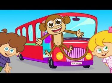 Wheels on the Bus – Adisebaba İngilizce Çizgi Film Çocuk Şarkıları Videoları