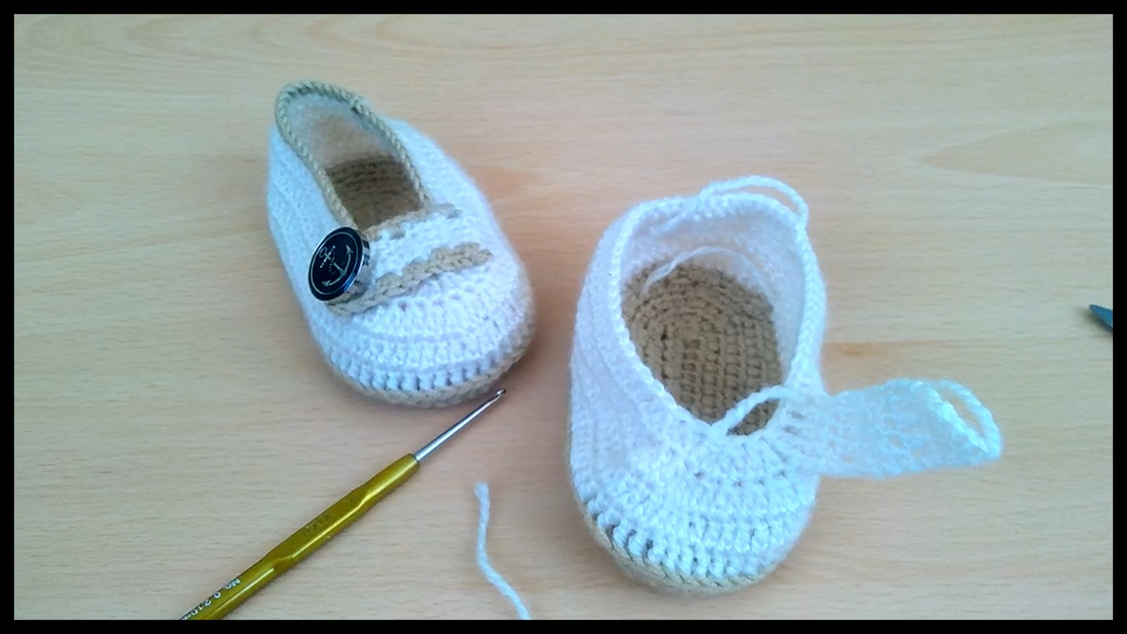 Çok Tatlı Bebek Ayakkabı Patik Yapılışı Videolu Anlatımlı