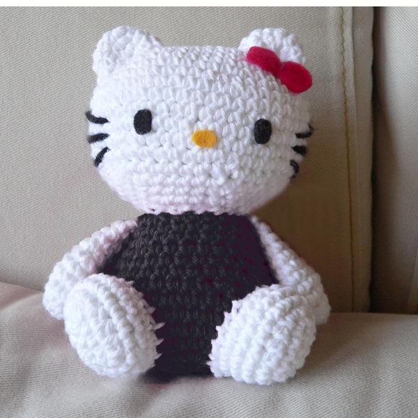Amigurumi) Hello Kitty Kedi Yapımı 1. Bölüm - Kafa Yapımı, Örme ... | 600x600