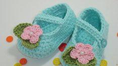 Turkuaz ve Mavi Renk Bebek Patik Modelleri