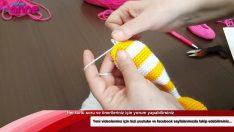 Çilek Kız Bacak Birleşimi ve Gövdeye Geçiş Örgü Oyuncak Amigurumi