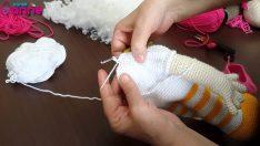 Çilek Kız Boyun Örülüşü ve Başın Gövdeye Eklenmesi Örgü Oyuncak Amigurumi