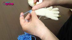 Çilek Kız Koldan Elbiseye Geçiş Yapılışı Örgü Oyuncak Amigurumi