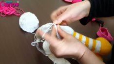 Çilek Kız Kolların Gövdeye Eklenişi Örgü Oyuncak Amigurumi