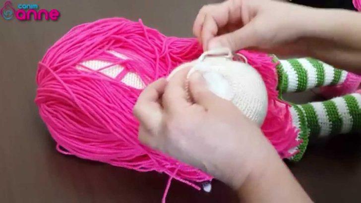 Çilek Kız Yüz Şekillendirme Yapılışı Örgü Oyuncak Amigurumi