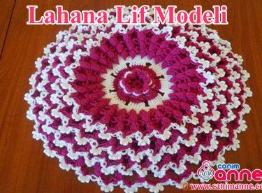 Kırmızı Çiçek Lif Modeli Yapımı Videolu Açıklamalı