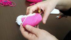 Şeker Kız Ayak Bileği Yapılışı Örgü Oyuncak Amigurumi