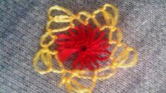 İğne Oyası Çiçeğin Kenarının Yapımı
