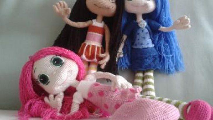 Amigurumi Örgü Oyuncak Kız Bebek Modelleri