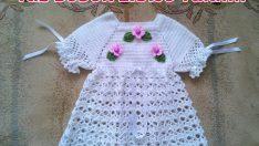 Örgü Bebek Elbisesinin Eteğinin Bitirilmesi