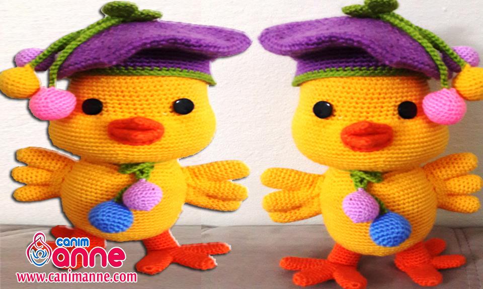 Amigurumi Anahtarlık Tarifi : Örgü oyuncak amigurumi Ördek yavrusu yapılışı canım anne