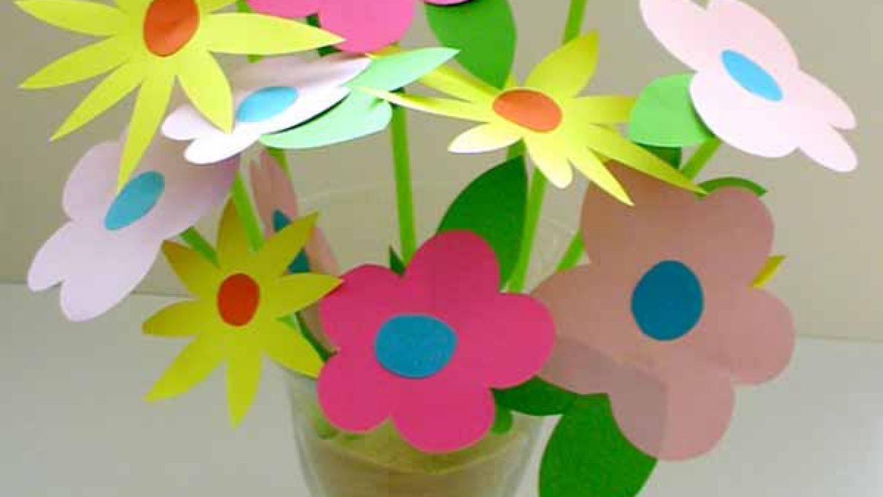 El İşi Kağıdı ile Yapılan Çiçek Örnekleri