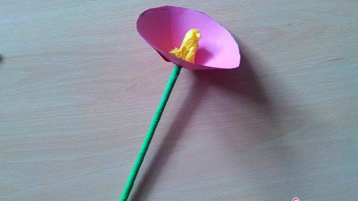 Elişi Kağıdı ile Çiçek Yapımı Okul Öncesi