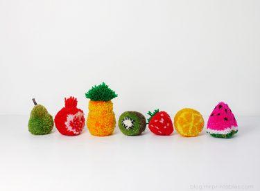 Ponpon Meyve Yapımı, Karpuz, Çilek, Kivi, Limon, Armut, Nar